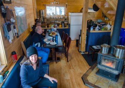 ski touring snowboard touring backcountry helicopter access remote exclusive Canadian Adventure Company Mallard Mountain Lodge British Columbia Rockies Canadian Rockies