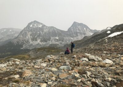 alpine hiking helicopter access remote exclusive Lodge British Columbia Rockies Canadian Rockies