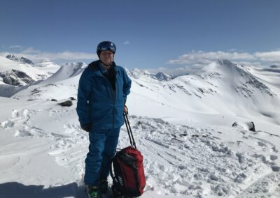 ski touring snowboard touring backcountry powder snow helicopter access remote exclusive Canadian Adventure Company Mallard Mountain Lodge British Columbia Rockies Canadian Rockies